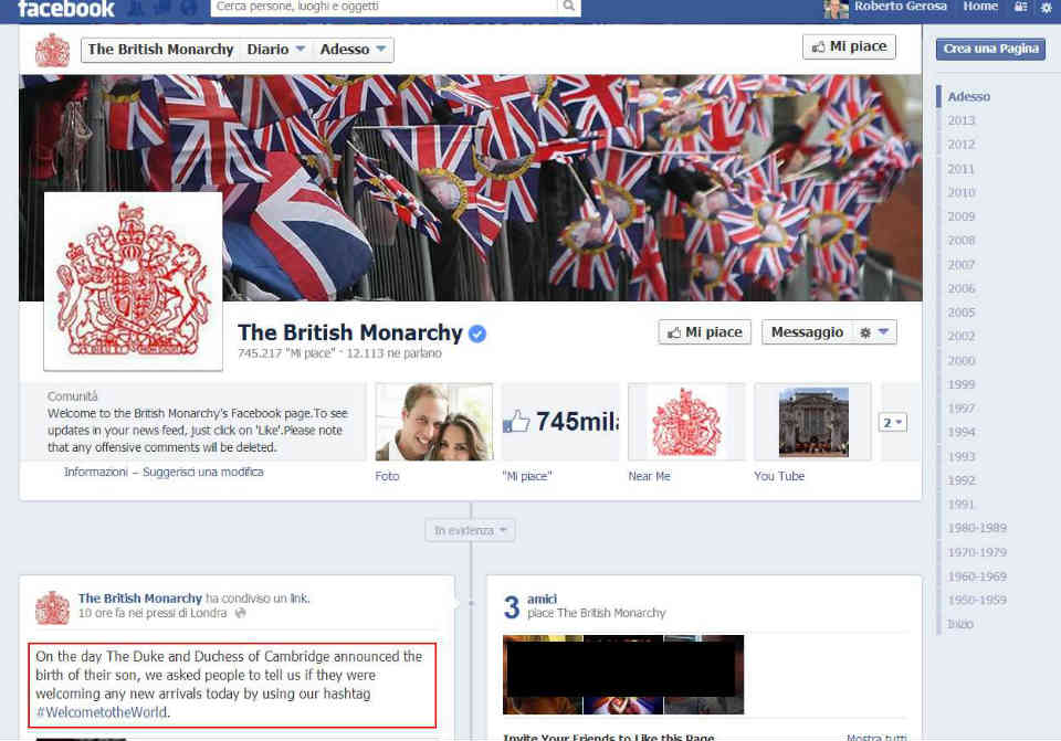 The British Monarchy Facebook