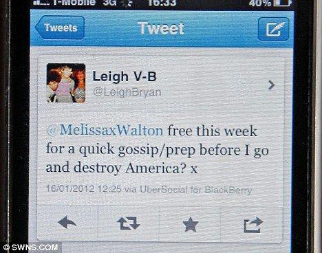Leigh Bryan Tweet