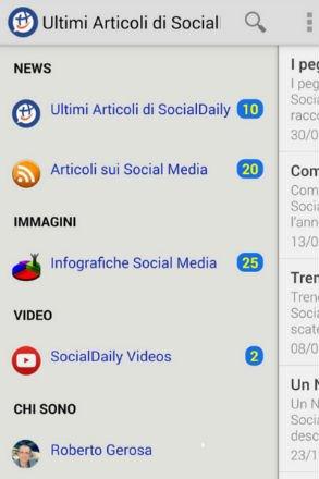 Screenshot App SocialDaily Home