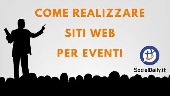 Come realizzare siti web per eventi