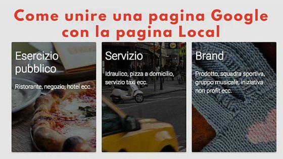 Come unire pagina Google con la pagina Local