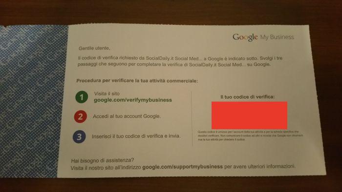 cartolina google