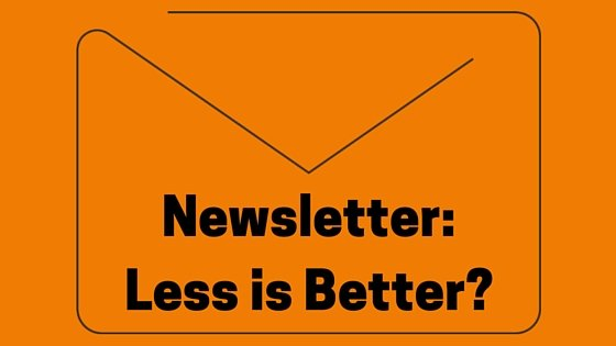 Newsletter: Less is Better