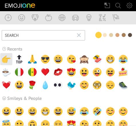 EstensioneEmoji Keyboard (2016) by EmojiOne