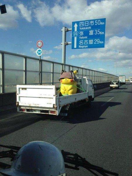 Un Pokemon catturato e portato via su un furgone
